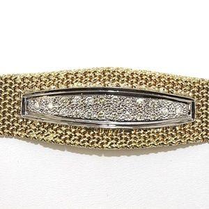 Jewelry - Round Diamond Italian Style Weave Bracelet .50Ct